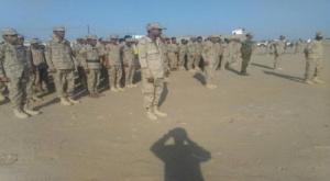 قائد اللواء 12 صاعقة يوجه برفع الجاهزية العسكرية لقوات اللواء في معسكر العوبان بأبين