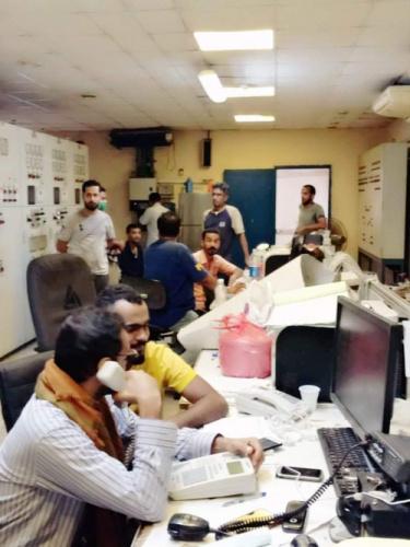 عودة تدريجية للتيار الكهربائي بمديريات العاصمة عدن