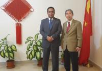 ممثل خارجية الانتقالي يبحث مع السفير الصيني إجراءات تنفيذ اتفاق الرياض وآلية تسريعه