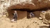 العثور على بوابة مقبرة أثرية في حضرموت