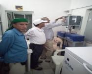 مدير عام مكتب الصحة والسكان بالضالع يزور مستشفى الحصين العام
